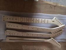 Unfinished Banana Electric Guitar Neck Dot Inlay 24 Fret Maple For ST Parts