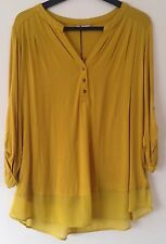 Ladies sz 22 M&S Collection Stunning & Elegant Chartreuse Soft Long Top BNWT