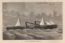 1875 ANTWERP STEAM BOAT BARON OSY PADDLE STEAMER BUILT BY MITCHELL AND CO