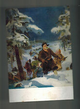 Mint WWII USSR SOviet Union Winter Soldiers On Snowshoes Postcard Red Army