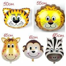 5pcs LARGE Animal Zoo Safari Giant Foil Helium Balloons Party Supplies Lolly Bag