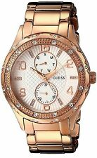 GUESS Women's U0442L3 Mid-Size Rose Gold-Tone Multi-Function Watch