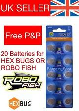 20 REPLACEMENT BATTERIES FOR HEXBUG NANO ROBO FISH CRAB HEX BUG BATTERY TAGAMOTO