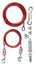 Trixie Hi Strength Dogs Up To 45Kg 15m Garden Dog Tie Out Cable With Pulley 2293