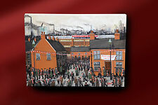P J NORMAN ORIGINAL FINE OIL PAINTING NORTHERN ART MANCHESTER UNITED AT HOME