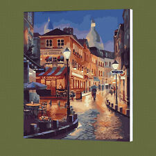 Modern City Street DIY Paint By Number Kit On Canvas Digital Oil Painting