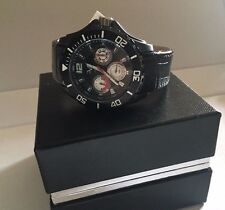 V 1969 Italia Men's cronograph Watch crock Leather Band Versace 45mm new