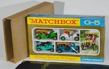 Matchbox G-5 'Famous Cars Of YesterYear' Gift Set. 4 cars. Ex-shop-stock sealed!