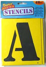 "Darice 5"" POSTER STENCILS Alphabet Letter Number Punctuation TEMPLATE 48pc"
