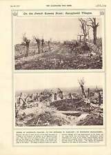 1917 French Somme Front Rancourt Bouchavesnes Destroyed Villages