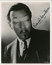 "10""x8"" PHOTO PRINTED AUTOGRAPH - ROLAND WINTERS - CHARLIE CHAN"