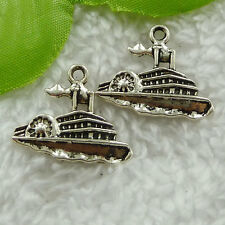 Free Ship 160 pieces tibet silver steamboat charms 24x20mm #1709