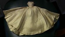 HTF Barbie Doll CLONE Bild Lilli Halina's fashions of Chicago Gold Metallic Gown