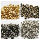 100 x 2mm Eyelets in Black, Gold, Silver, Bronzes Leather Craft Doll Scrapbook