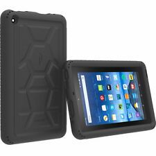 Poetic Turtle Skin Silicone Case fo Amazon Kindle Fire 7 5th Gen (2015) Black