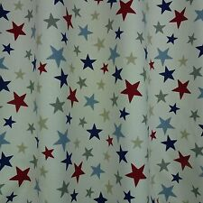 Funky Stars Red & Blue Curtain Fabric-137 cm wide - £9.99  metre