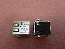 1x TRANSPOWER RJ617-CL53400 , RJ45 SMD CONNECTOR WITH 2 LEDS