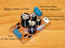 Dual Power Rectifier Filter PSU Board Dual Output for Amplifier Pre-amp Amp