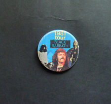 VINTAGE BLACK SABBATH TOUR 1981 BUTTON PIN BADGE NWoBHM OZZY OSBOURNE TONY IOMMI