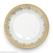 Arte Italica Vetro Gold Set of 4 Glass Salad and Dessert Plates Made in Italy
