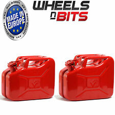 2 x RED 10L LITRE JERRY MILITARY CAN FUEL OIL WATER PETROL KEROSENE WATER