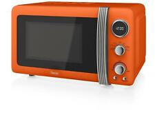 Swan SM22030ON Retro 800W 20L Digital Freestanding Microwave - ORANGE