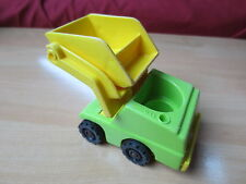 Camion Front Loader Work Lift Load Depot Vintage Fisher Price Little People