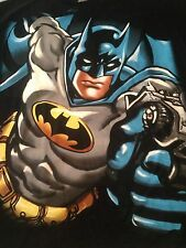 Batman Image T Shirt DC Comics Batman Upper Body & Face Cotton Black Blue L