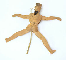 19th Century Uncle Sam Carved Wood Folk Art String Jumping Jack Toy Puppet