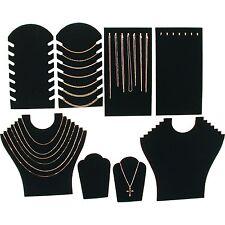 Black Velvet Necklace Jewelry Displays 8 Pc Set