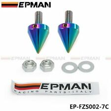 EPMAN NEO CHROME SCREW SET SWING ARM PROTECTOR LICENSE PLATE WASHER CRASH BOBBIN