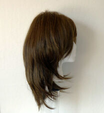 Fashion Wig Newest Heat Resistant Kanekalon Natural Meduim Brown Wig + Gift