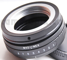 Tilt M42 Lens to Sony NEX E-mount camera camcorder body adapter converter ring