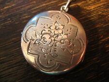 bezauberndes Jugendstil Medallion 800er Silber Rose graviert Art Nouveau Locket