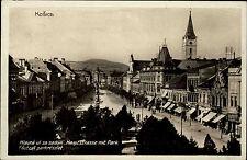 Košice Kaschau Slovacchia franierte AK per 1930 sguardo alle strada principale con Park