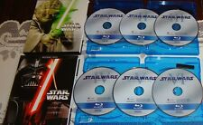 STAR WARS COMPLETE SAGA 1-6 BLU-RAY SET EPISODES I,II,III,IV,V,VI (NO DVDs) WIDE