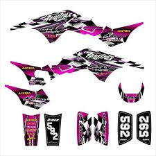 TRX 250R Graphics for Honda ATV racing decal sticker kit #2500 Hot Pink