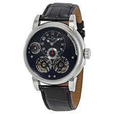 Lucien Piccard Cosmos Black Dial Automatic Mens Watch 15071-01-W