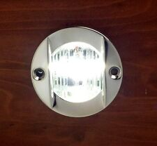 MARINE BOAT TRANSOM LED STERN LIGHT STAINLESS STEEL SPASHPROOF FLUSH MOUNT
