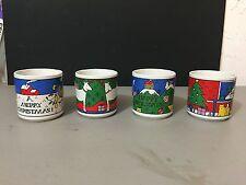 Christmas Mugs Coffee/Tea Cups Colorful Christmas Houze Original Art alan wood