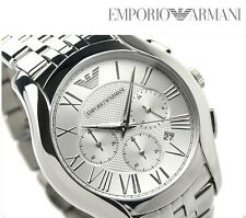 EMPORIO ARMANI CLASSIC CHRONOGRAPH SILVER TONE STAINLESS STEEL MEN WATCH AR1702