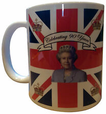 HM La Reina Isabel II ninetieth 90th Cumpleaños Conmemorativa De Té Café Taza en caja