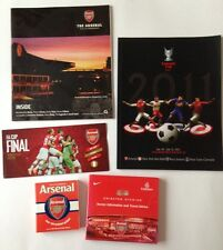 Arsenal - Book, Programme, Ticket folder and Membership magazine! Bargain Lot!