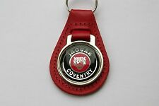 JAGUAR COVENTRY RED LEATHER KEYRING, KEY CHAIN, KEY FOB