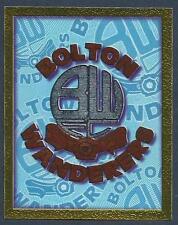 MERLIN 1998-PREMIER LEAGUE 98- #099-BOLTON WANDERERS TEAM BADGE-SILVER FOIL