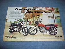 "1980 Suzuki GS550 Vintage 2-Page Ad ""Our Canyon Cat and it's Cruisin' Cousin"""