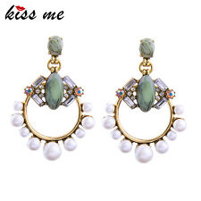 KISS ME Statement Geometric Simulated Pearls Jewelry Earrings Christmas ed01348