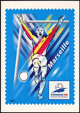 France 1998 coupe du monde de football marseille préaffranchie CARTE MAXIMUM #C inutilisés 32754