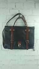 New ASOS Genuine Leather Satchel Bag in Black/Brown