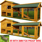 RABBIT HUTCH GUINEA PIG HUTCHES RUN LARGE 2 TIER DOUBLE DECKER CAGE
